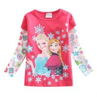 frozen long sleeve t shirt girls top frozen t shirt elsa and anna nova brand kids girl t shirt child 2014 girls clothing