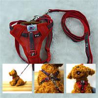 red 120 length PET Harness matching bone cowboy straps leash Comfortable Dog Harness SET HL37