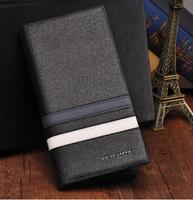 2014 Promotion!New Design Men wallet brand genuines leather wallets clutch card holder/money bag black for men,HOT SALE