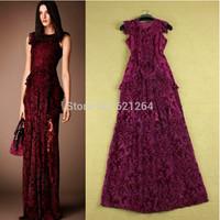 2014 vintage velvet embroidery slim maxi party dress elegant evening long dress