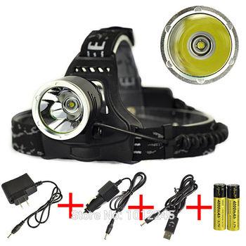 Фары 2000LM T6 из светодиодов аккумуляторная глава факел свет отдых на природе лампы ...