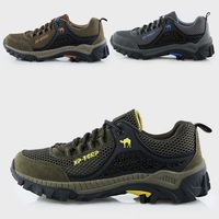 2014 summer new men 's breathable hiking shoes outdoor casual slip hiking shoes mountain climbing waterproof shoes big size