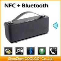 NFC Aluminum HIFI Bluetooth Speaker , portable dancing wireless mini speakers sound box boombox super bass loudspeakers with FM