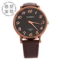 Hot wholesale new 2014 elegant ladies' business stainless steel Quartz waterproof leather band wrist watch TBS803-4