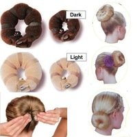 Lady Hair Styling Tool Soft Magic style Bun Sponge Donut Shape Hair Styler Clip Twist easily create fabulous buns Hair Tools