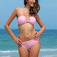 Fashion Design Swimwear Women  Ladies Top With PAD  Sexy Beach Wear Nylon Sexy Bikini Set Drop Shipping 2447
