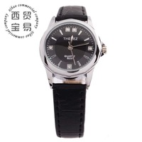 Hot wholesale new 2014 Luxury women's office Quartz waterproof stainless steel leather strap wrist watch TBS8839