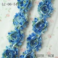 "Chiffon Flower Decoration ,2.5"" 8 Yards Headband Flower Accessories ,Dress Flower Trim"