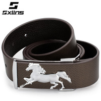 2015 Sale 28 Sxllns New Fashion Genuine Leather Belts for Men First Layer of Cowhide Brand Belt Male Zodiac Horse free Shiping