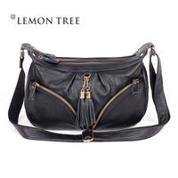 2014 women meaaenger bag women leather handbag genuine leather bags shoulder bags fashion totes bolsas cowhide Tassel femininas