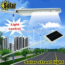 2014new solar power street lamp High brightness smd Lamp bead corridor courtyard Outdoor lighting ABS+aluminum freee shipping(China (Mainland))