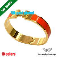 New Design 2014 Fashion Metal H Bangle Women Alloy Cuff Bracelets 18K Gold Plated Bracelet Jewelry Free Shipping