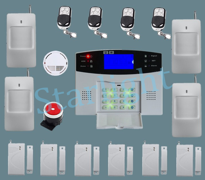 System security home personal security Alarm siren Wireless smoke alarm Support Englsih Russian Spanish French for option(China (Mainland))