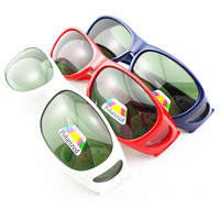 Pop Sales Now!Fit over eyeglasses Polarized wraparound Glasses Sunglasses Goggles 3Colors-Fast Shipping