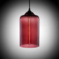Free shipping  e27 Edison light bulb  Modern Glass Pendant Light with Purple  color