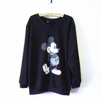 New Fashion 2014 Women/Men animal mickey mouse Pullovers print sweatshirts print sweaters Hoodies top