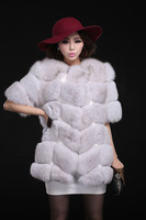 2014 Most popular Women's Whole set of Fox Fur Coat