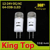 Promotion sale G4 DC /AC 12V 24V Led COB droplight 3030SMD 3W brightness lamps for Crystal chandelier Lighting with CE ROHS1PCS