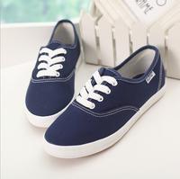 The 2014 women's shoes fashion leisure women's canvas shoes Breathable flat shoes women sneakers 8 colors