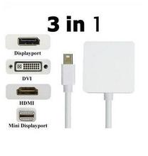 2014 mới 1 pcs giá xuất xưởng 3 trong 1 mini DisplayPort HDMI/DVI/dp adapter cho apple macbook pro bộ chuyển đổi bán sỉ