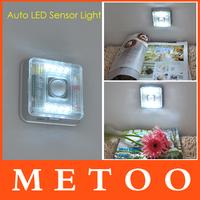 LED White Lamp Auto Sensor Action Move Motion Detector Night Lights Wireless Infrared 8 LED Light Lamp PIR NightLights