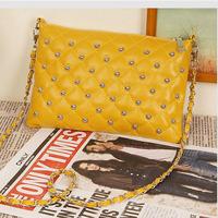 Hot Casual Fashion women bag rivet chain vintage envelope messenger bag women's day clutch leather handbags Tote Wholesale