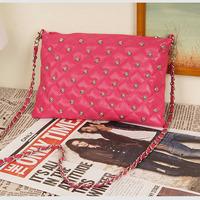 HotsaleHotPromotion    women bag rivet chain vintage envelope messenger bag women's day clutch leather handbags Totes