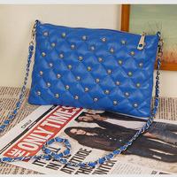 Fashion 2014 New women bag rivet chain vintage envelope messenger bag women's day clutch leather handbags Tote Wholesale