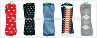 Free shipping 12pairs/lot Winter Warm Baby Children Cotton Sock Printed Sport Loose Mouth Baby Leg Warmers