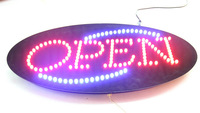 Led Signs DC12V gook looking high quality animation/oval acrylic open/neon/customed/business/store/shop/window/electronic sign