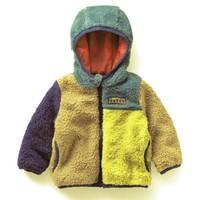 Retail boy coat Cute spell color cotton jacket Boys warm coat children Fleece jacket children fashion outwear 2014 new wear