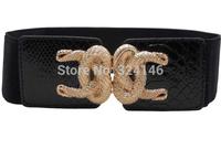2014 Summber New Fashion Black Vintage wide belt  luxury girdle women elastic belt wholesale Free shipping