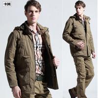 Fashion Cotton Winter Men Parka Trench Coat Hoodie Outdoor Sportswear Casual Mens Padded Coats & Jackets Plus Size Overcoat XXXL