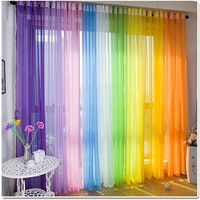 Free Shipping Voile Sheer Curtain Panel Ready Made Home Decor Luxury Europe Gauze Curtain Sheer Tulle Voile Window Curtains