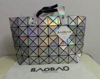 Laser the trend of the bag 2014 women's handbag issey miyake quality folding bag handbag