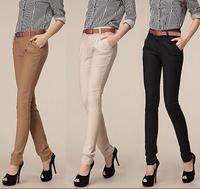 SALE Women Cotton Pants  Fashion Pencil Pants Plus Size Woman Pants OL Work Trousers Free Shipping CP005