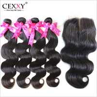 5Pcs Lot,Rosa Peruvian Virgin Hair Lace Closure With Bundles,Human Hair Weaves Body Wave,For A Full Head,Shipping Free By DHL