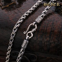 100% Gurantee 925 Sterling Silver Necklace For Man 2014 Fashion High Quality Pure Silver Man's Necklace Chain FreeShipping C-014