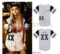 The cxx short-sleeve shirt summer male stripe west  male shirt baseball uniform casual short-sleeve shirt