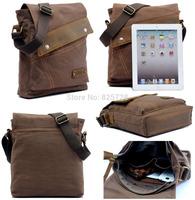 3 Colors Men's Canvas Genuine Leather Shoulder Bag Men School Travel Casual Small Messenger Bags Satchel Free Shipping