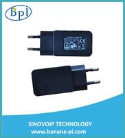 Banana PI  2A 5V  EURO Standard Power supply+USB line data+5V/2A