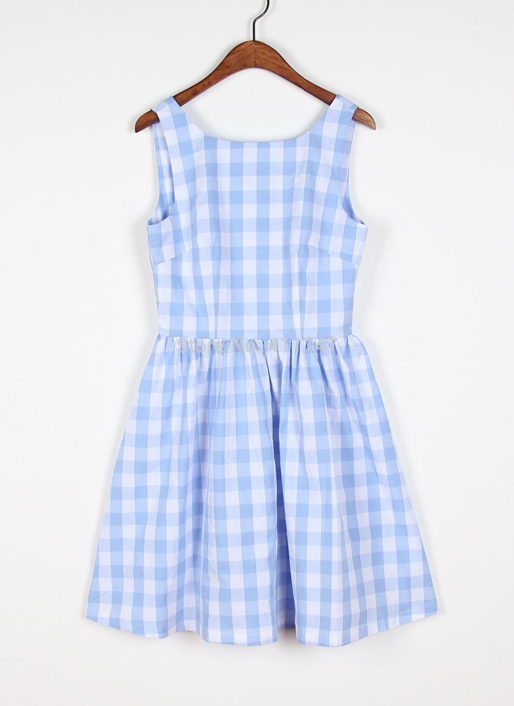 Blue Plaid Dress Dress Light Blue Plaid