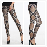 Python Printing New Spring 2014 Leggings For Women Punk Jeans Women Legging Fashion Footless Leggings Sport Leggins Girl Pants
