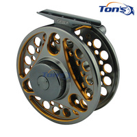 Double-color Aluminum Alloy Machine Cut Fly Fishing Reels Large Arbor WF5/6