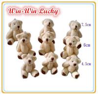 Hot Sale 4.5 cm Mini Teddy Bear Soft Joint Stuffed Bear Wedding Decoration Doll Cartoon Toy Can Sit Plush Bear 100 Pcs/lot