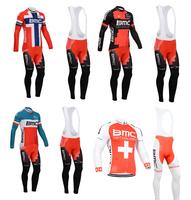 New Arrival!2014 BMC Cycling Jersey Long sleeve and bicycle bib Pants / ropa ciclismo clothing MTB NX52