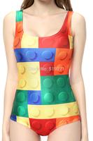 NADANBAO New Arrive Fashion Swimsuit Colorful Digital Korean Printed One Piece Swimwear YQ1112