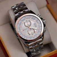 2014 New Style Big Dial Curren Dress Watch Quartz 316L Full Steel Wristwatch Businessmen Calendar Analog Clock Waterproof NW171