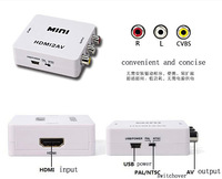 Mini HD Video Converter Box HDMI to AV/CVBS L/R Video Adapter 1080P HDMI2AV Support NTSC and PAL Output LGDW117