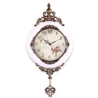 High-grade wall Clock With Quartz Movement Retro Antique Wooden Wall Clock